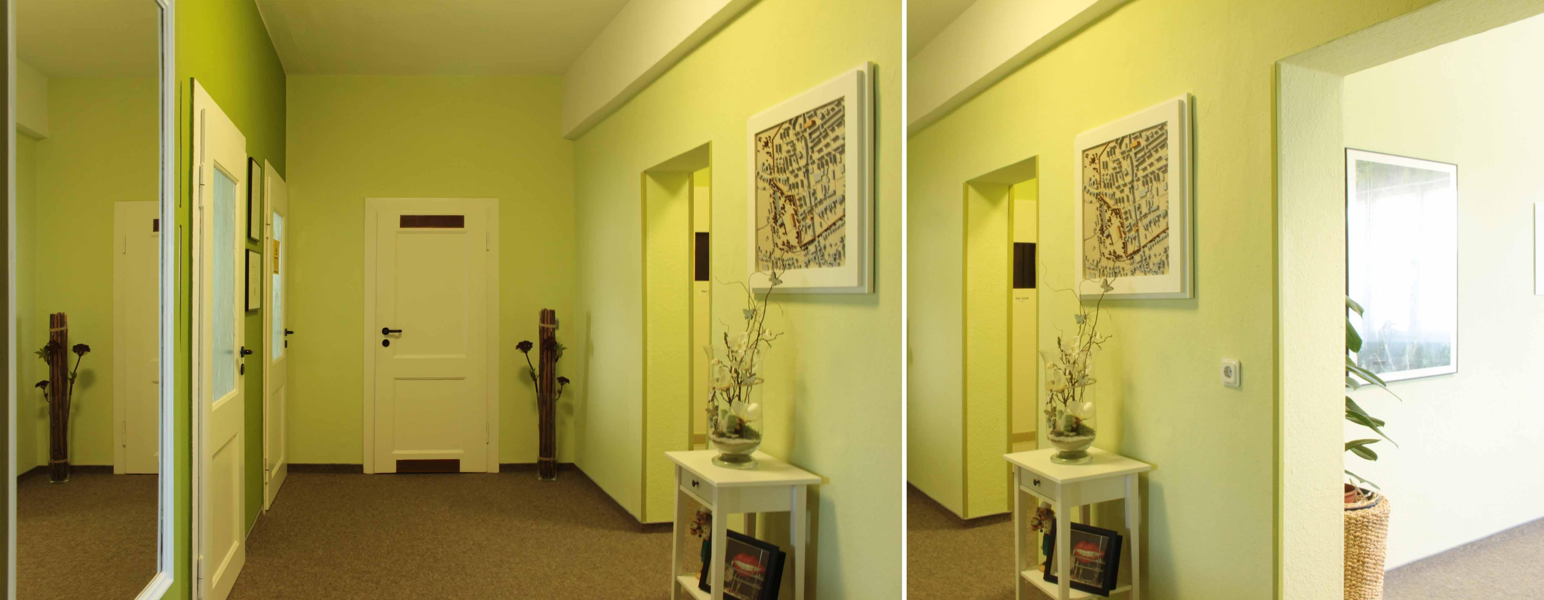 Eingangsbereich der Praxis - Zahnarztpraxis im Zerbster Zentrum - Zahnarzt Dr. med. Bernd Lux