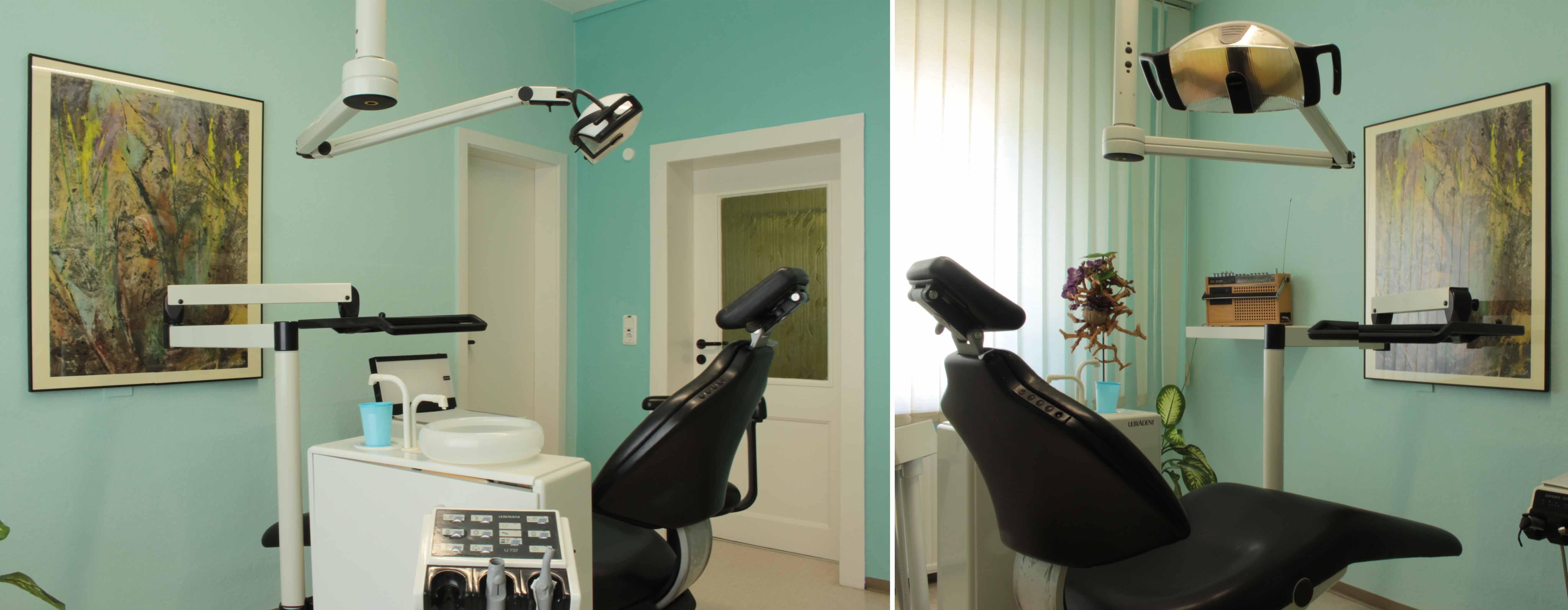 Sprechzimmer 1 der Praxis - Zahnarztpraxis im Zerbster Zentrum - Zahnarzt Dr. med. Bernd Lux